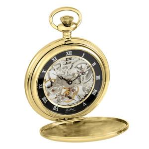 Woodford Skeleton Exhibition Back Gold Pocket Watch 1107