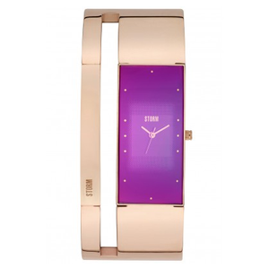 STORM Ladies Alvara Rose Gold And Purple Watch