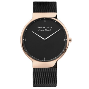 Bering Mens Max Rene Designed Black Stainless Steel Watch 15540-262