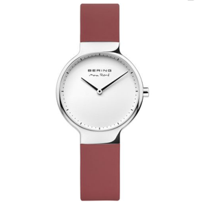Bering Ladies Max Rene Designed Red Rubber Watch 15531-500