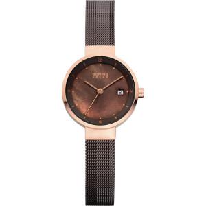 Bering Ladies Brown Mesh Solar Powered Watch 14426-265