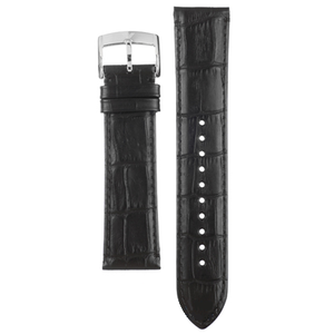 Armani Replacement Watch Strap Black Textured Leather 22mm For AR1703 With Free Connecting Pins