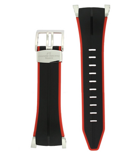Seiko Honda F1 Watch Strap Replacement Sportura Black and Red Rubber 22mm For SNA749 (4KZ5JZ)