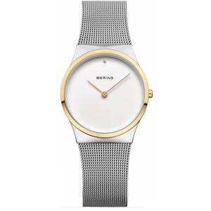 Bering Ladies Classic Mesh Gold Tone Bezel Watch 12130-014