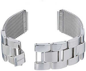 DKNY Replacement Silver Mesh and Link Bracelet For NY8556 With Free Connecting Pins