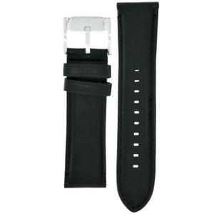 Fossil Black Leather Watch Strap For FS4866 with Free Connecting Pins