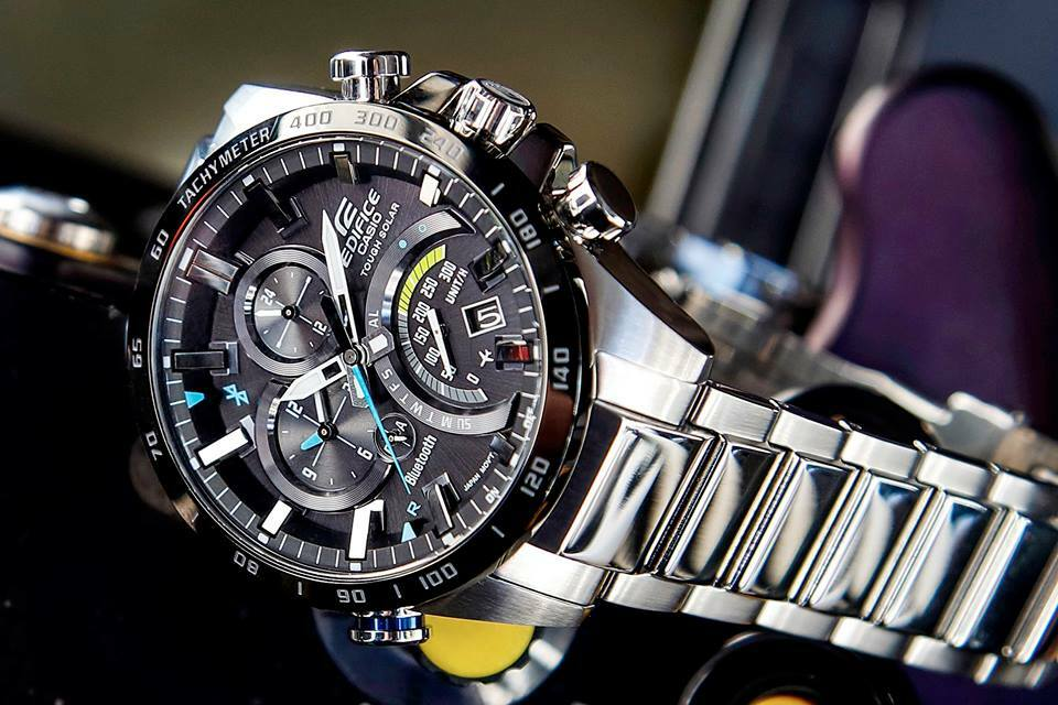 Casio Edifice Bluetooth Tough Solar Black Dial Watch EQB-501XDB-1AMER. ◅  ZOOM  d149213ae