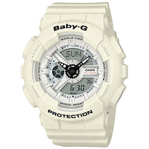 Baby-G Punching Pattern White Watch BA-110PP-7AER
