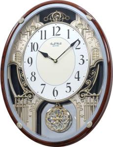 Rhythm Chateau Magic Motion with Swarovski Crystal Musical Wall Clock 4MH865WD23