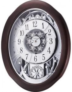 Rhythm Anthology Espresso Magic Motion Wall Clock 4MH869WU06