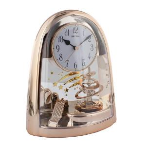Rhythm Arch Pendulum Mantel Clock In Rose Gold Finish 4SG607WB13