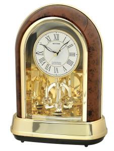 Rhythm Contemporary Mantel Arch Melody Pendulum Woodgrain 4RH791WD23