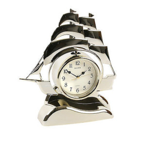 Rhythm Contemporary Mantel Clock Ship Pendulum Gilt 4RP705WS18