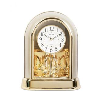Rhythm Contemporary Mantel Clock Two Tone Gilt With Swaovski Pendulum 4SG696WR18