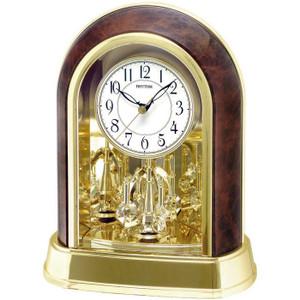 Rhythm Contemporary Motion Mantel Clock Swarovski Elements Spiral Pendulum 4SG696WT23