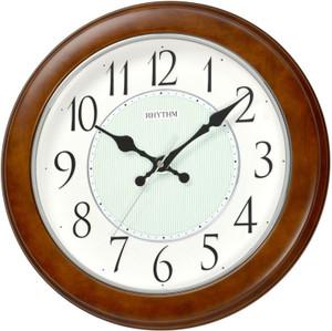 Rhythm Real Wood Wall Clock Silent Silk Move 3D Illum Dial CMG120NR06