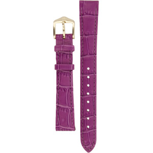 Hirsch Louisianalook Replacement Watch Strap Purple Alligator Embossed Leather 14mm