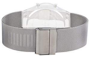 Skagen Genuine Replacement 22mm Silver Mesh Bracelet For 733XLSS