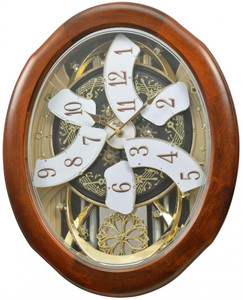 Rhythm Magnificent Time Cracker Musical Penddulum Wall Clock 4MH884WD06