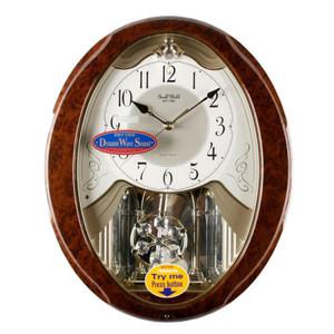 Rhythm Magic Motion Oval Wood Effect Penddulum Wall Clock 4MJ862WP23