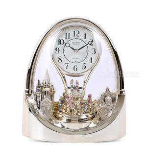 Rhythm Mantel Clock Arch Gilt Melody With Pendulum 4RH737WD18