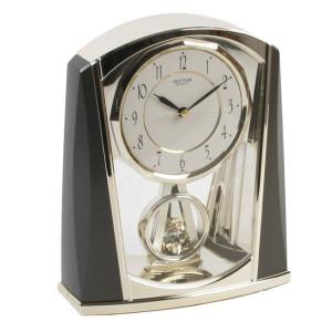 Rhythm Analogue Mantel Clock Metallic Grey Colour 4RP772WR08
