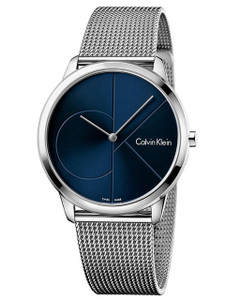 Calvin Klein Men's Minimal Black Dial Watch K3M2112N