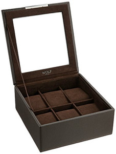 Wolf Stackable Watchbox For Up To 6 Watches In Brown 309606