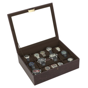 Stackers Watch Box For 15 Watches in Brown and Khaki 73241