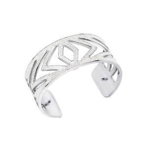 Les Georgettes Ladies Bracelet Silver Medium Size Chevrons
