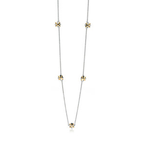 Fiorelli Ladies Silver Two Tone Sterling Silver Star Necklace