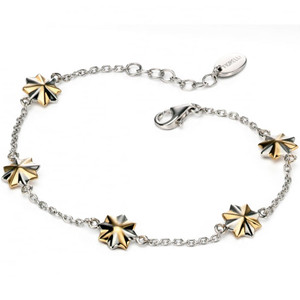 Fiorelli Ladies Silver & Gold Plate Multi Star Bracelet
