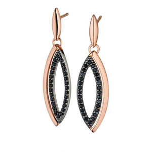 Fiorelli Ladies Silver Rose Gold Plated Cubic Zirconia Earrings