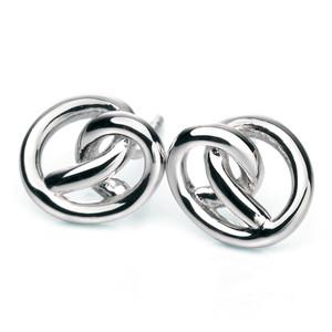 Fiorelli Ladies Silver Knot Stud Earrings