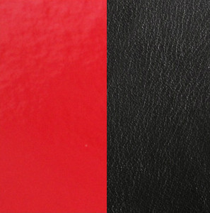Les Georgettes Leather Insert Medium Size in Patend Red and Black