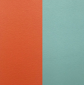 Les Georgettes Leather Insert Medium Size in Orange Lilium and Blue Nimbus