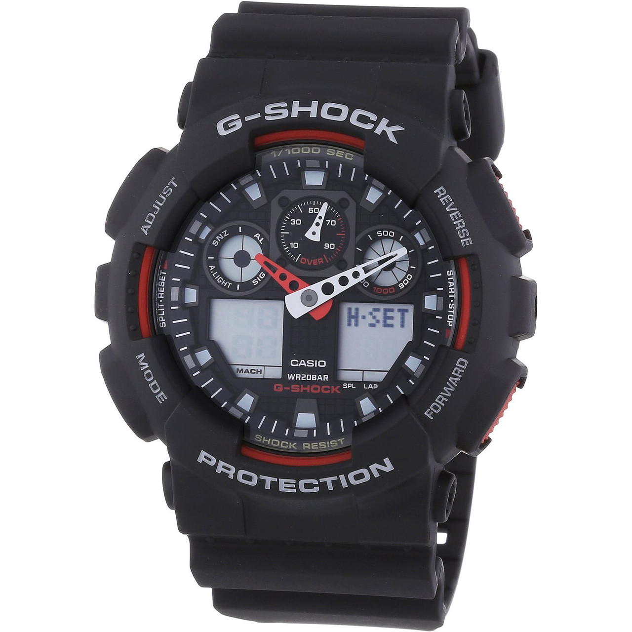 fdfcedf8840 G-Shock Analog Digital World-Time Black Watch GA-100-1A4ER