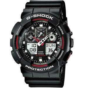 Casio G-Shock Analog Digital Combi World-Time Watch GA-100-1A4ER Black