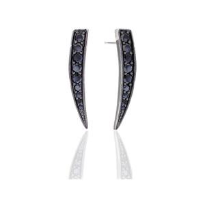 Sif Jakobs Earrings Pila With Black Zirconia