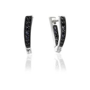 Sif Jakobs Earrings Pila Due With Black Zirconia