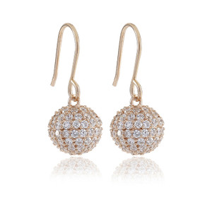 Sif Jakobs Earrings Comacchio Small Rose Gold Plated With White Zirconia