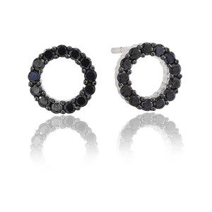 Sif Jakobs Earrings Biella Uno Piccolo With Black Zirconia