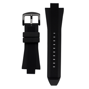 Michael Kors Replacement Watch Strap Black Rubber For MK8152 With Free Pins