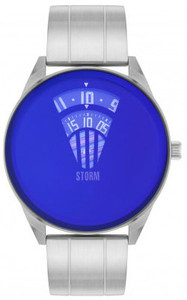 Storm Elevator Lazer Stainless Steel Blue Men's Watch