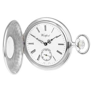 Woodford Sterling Silver Half Hunter Swiss Pocket Watch 1005