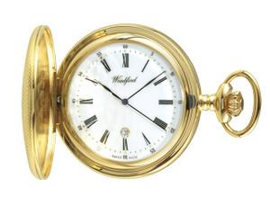 Woodford Gold Plated Half Hunter Swiss Pocket Watch 1085