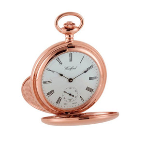 Woodford Rose Gold Mechanical Swiss Pocket Watch 1093