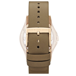 Marc Jacobs Genuine Replacement Watch Strap Beige Leather For MBM1245 With Pins