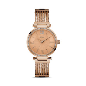 Guess Soho Stainless Steel Ladies Watch with Rose Gold Tone