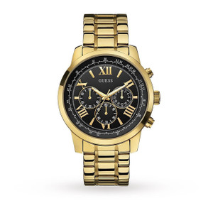 Guess Horizon Chronograph Men's Watch with Gold Tone